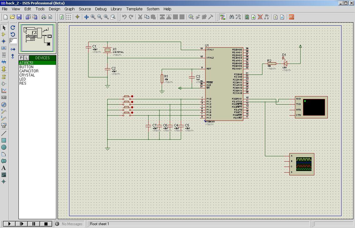 Schematic 0-25v digital voltmeter using avr microcontroller