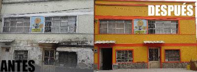 Cuadra de colores en Barrios Unidos