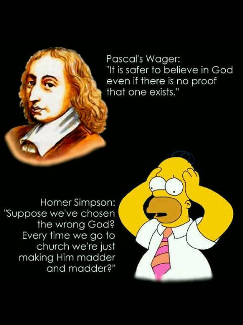 Homer Simpson Pascal's Wager picture