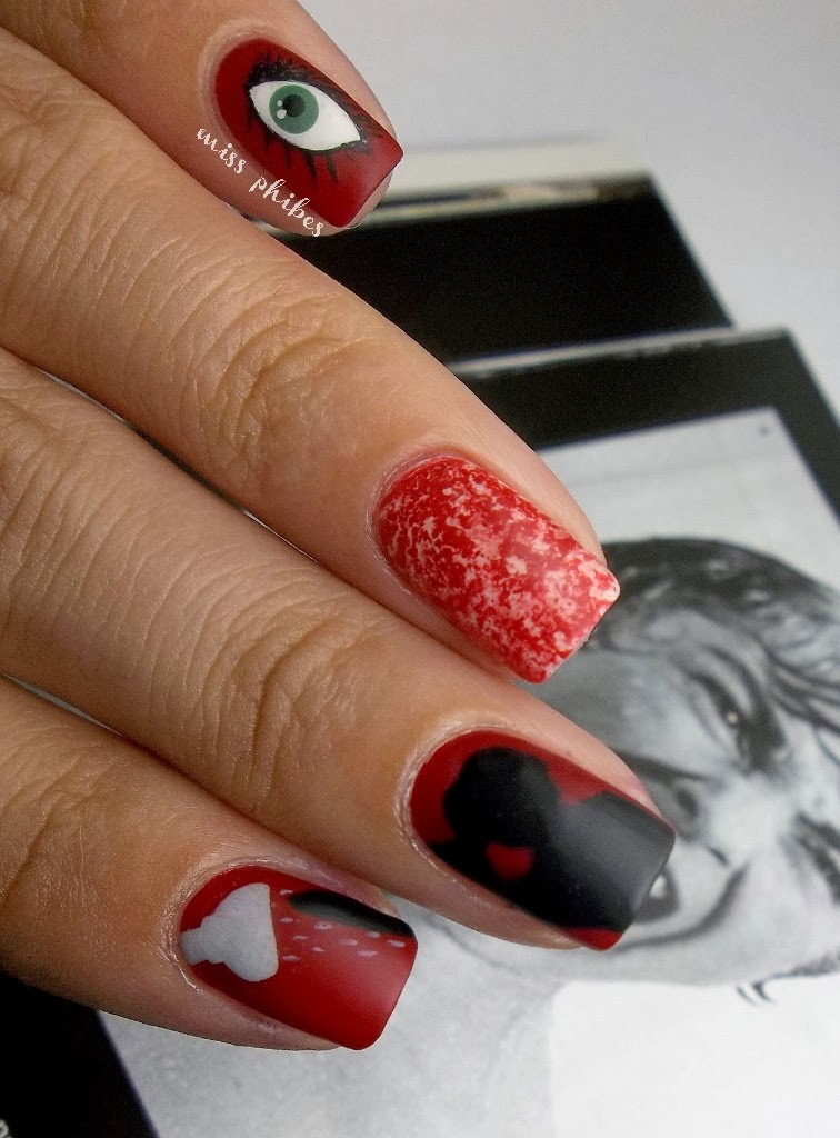 Psycho movie nail art