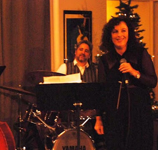 Drummer Alan Hall and singer-poet Lisa B (Lisa Bernstein)