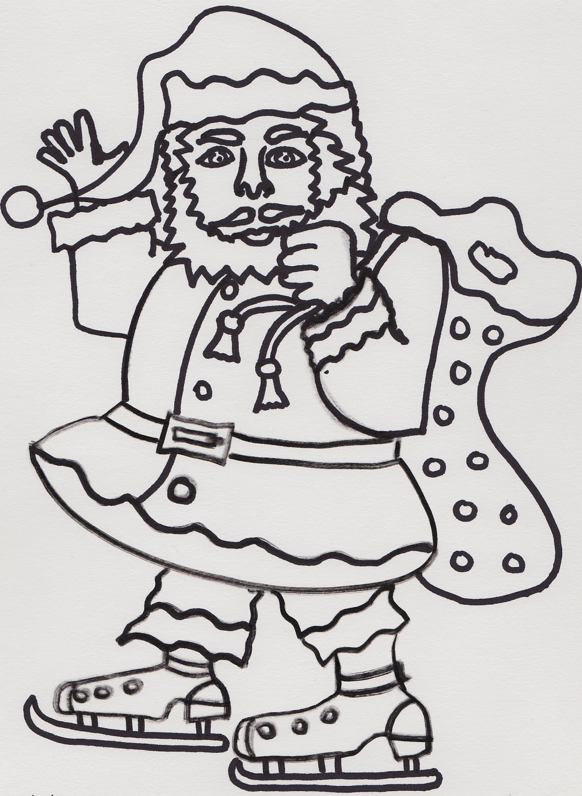 Unglaubliche Ausmalbilder Zum Ausdrucken Weihnachtsmann