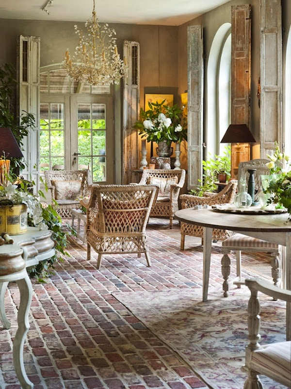 French Country Brick Flooring