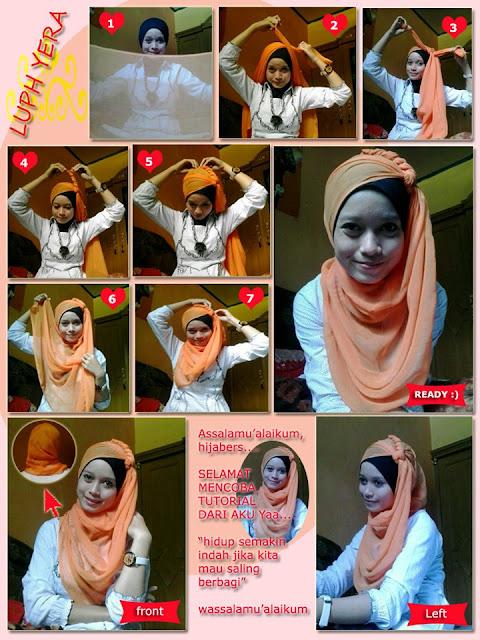 tutor cara memakai jilbab segi 4