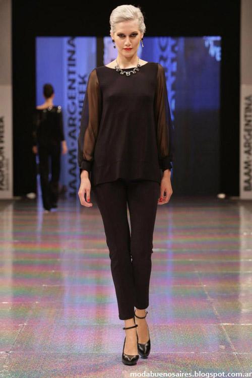 Adriana Costantini otoño invierno 2014 blusas de moda 2014 con transparencias.