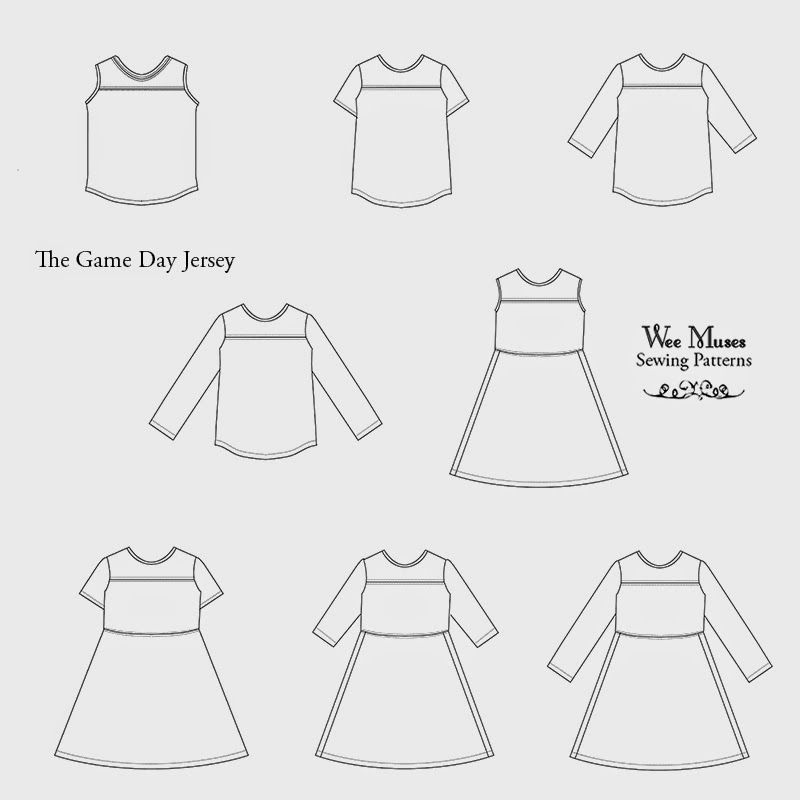 Aesthetic Nest: Sewing: The Game Day Jersey Tee and Dress (New Pattern!)