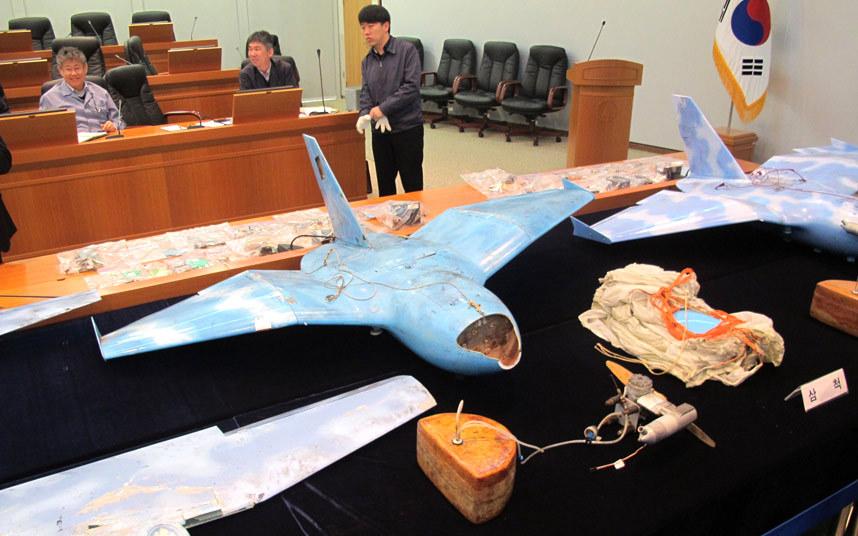 Tres drones de Corea del Norte encontrados en Corea del Sur