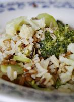 Arroz Sete Grãos com Brócolis e Couve-Flor (vegana)