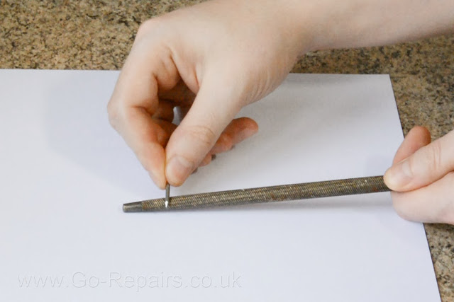 Make your own iron filings with an iron nail and a file.