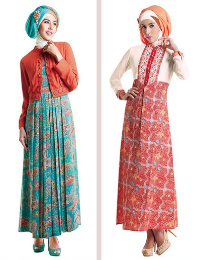 Koleksi Busana Muslim Gamis Terbaru 2015