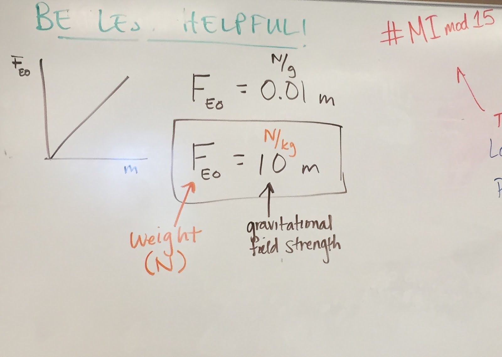 Modeling Physics Reflections Adam Alster Acceleration Due To Gravity Diagram The Free Body For This Force Of Earth On Object Is Equivalent Its Weight And W Mg G Represents Around 10 M S2