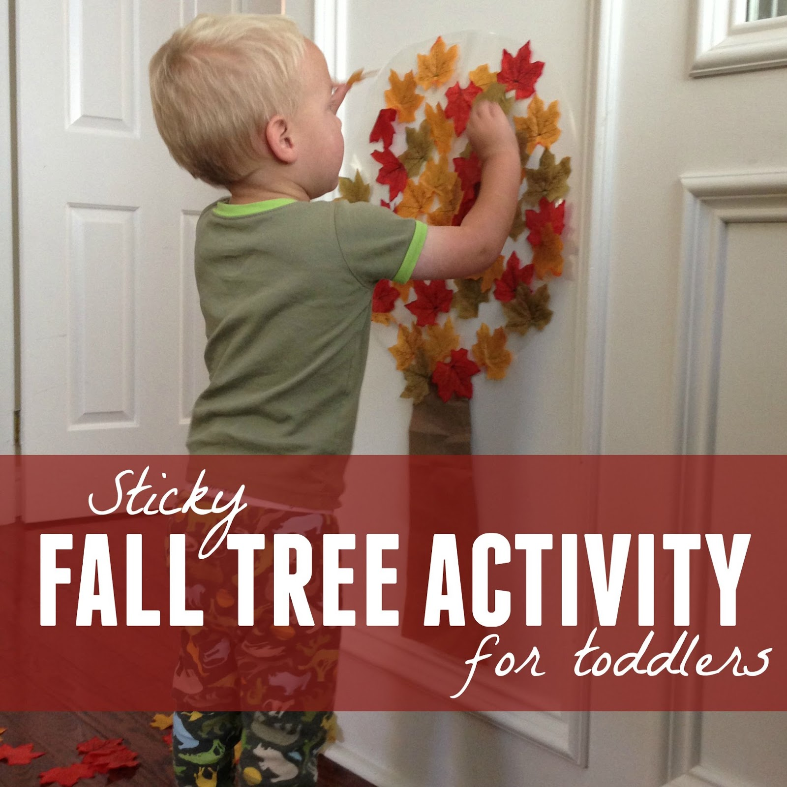 Fall colors activities for toddlers - Today We Are Sharing A Super Easy Fall Tree Activity For Toddlers That We Created It Is Much Simpler Than Some Of The Sticky Walls We Ve Created Before And