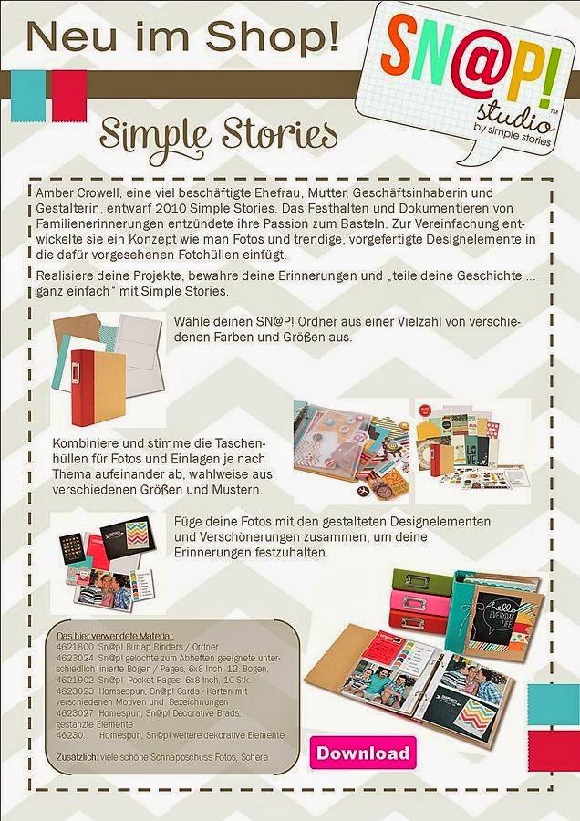 Simple Stories - schöne Erlebnisse in Schnappschüssen festgehalten