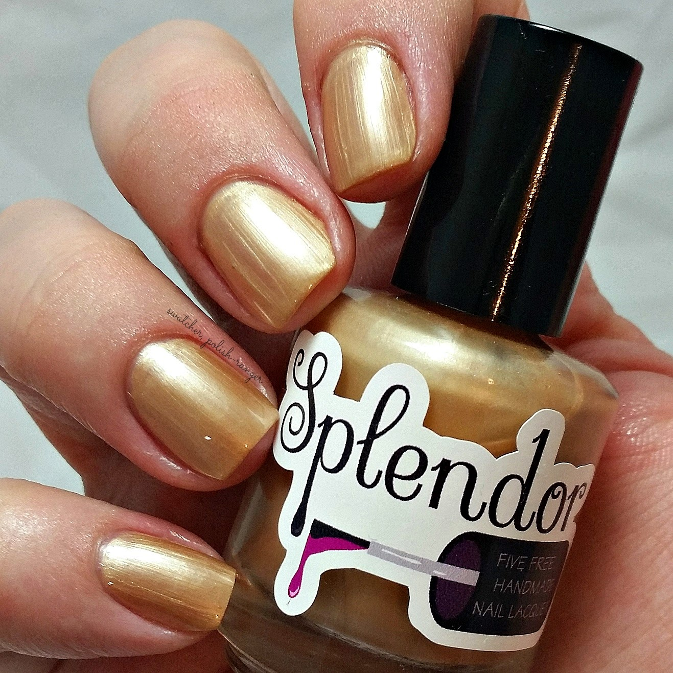 swatcher, polish-ranger | Splendor Nail Lacquer Pudding Sauce swatch