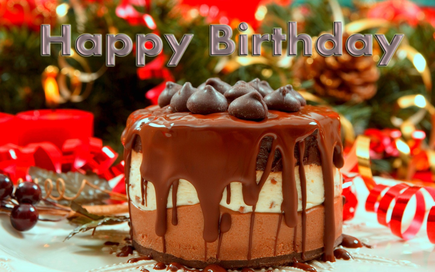 Wallpaper download birthday - Happy Birthday_choco Cake Full Screen Images