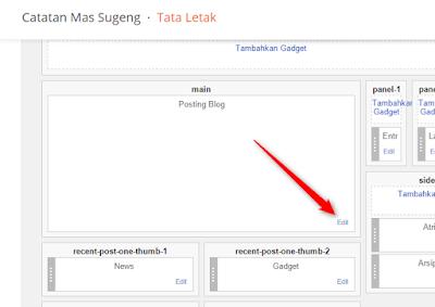 Edit Posting Blog