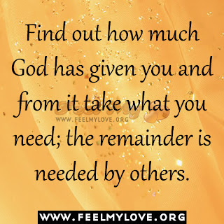 Find out how much God has given you