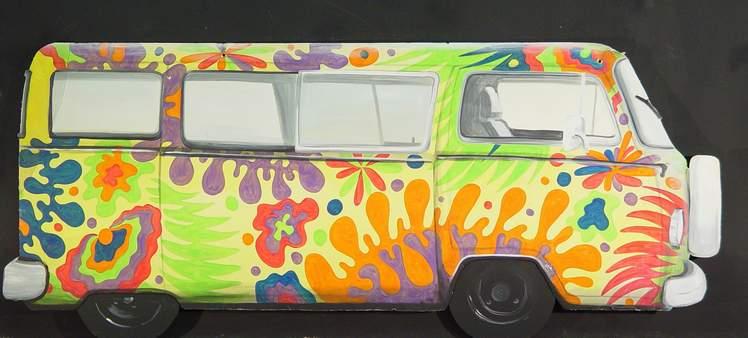 60s Hippie Bus Decoration