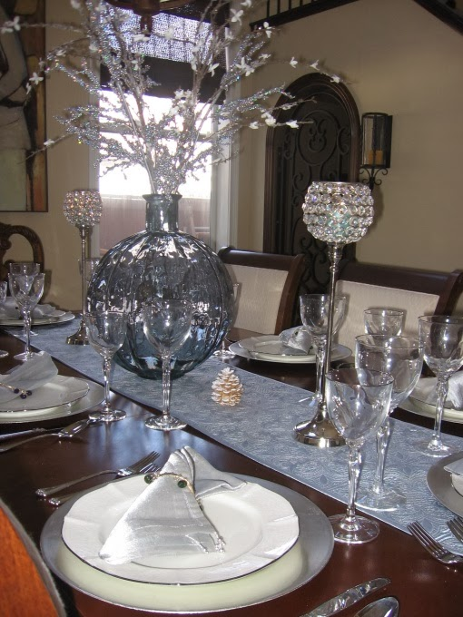 Multinotas decoraci n mesa navide a plata - Mesa navidena decoracion ...