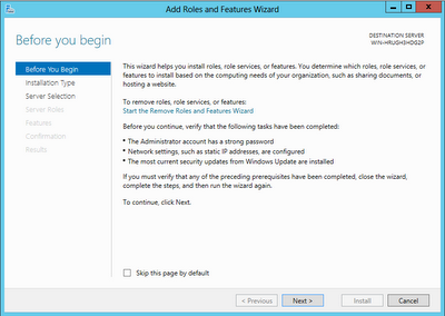 Windows Server 2012: Server Manager Add Roles And Features