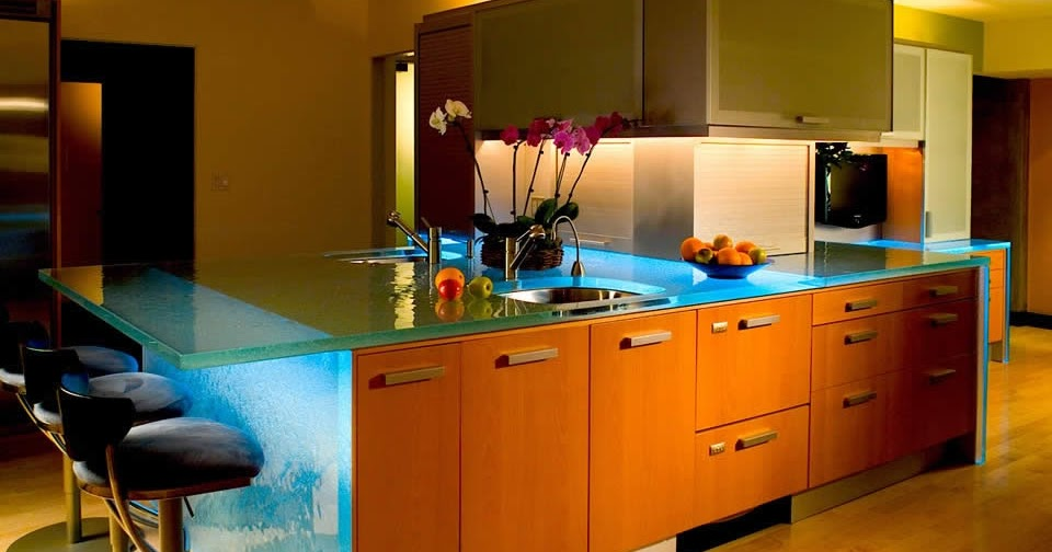Light Architecture Versatile Countertop With Inner Glow