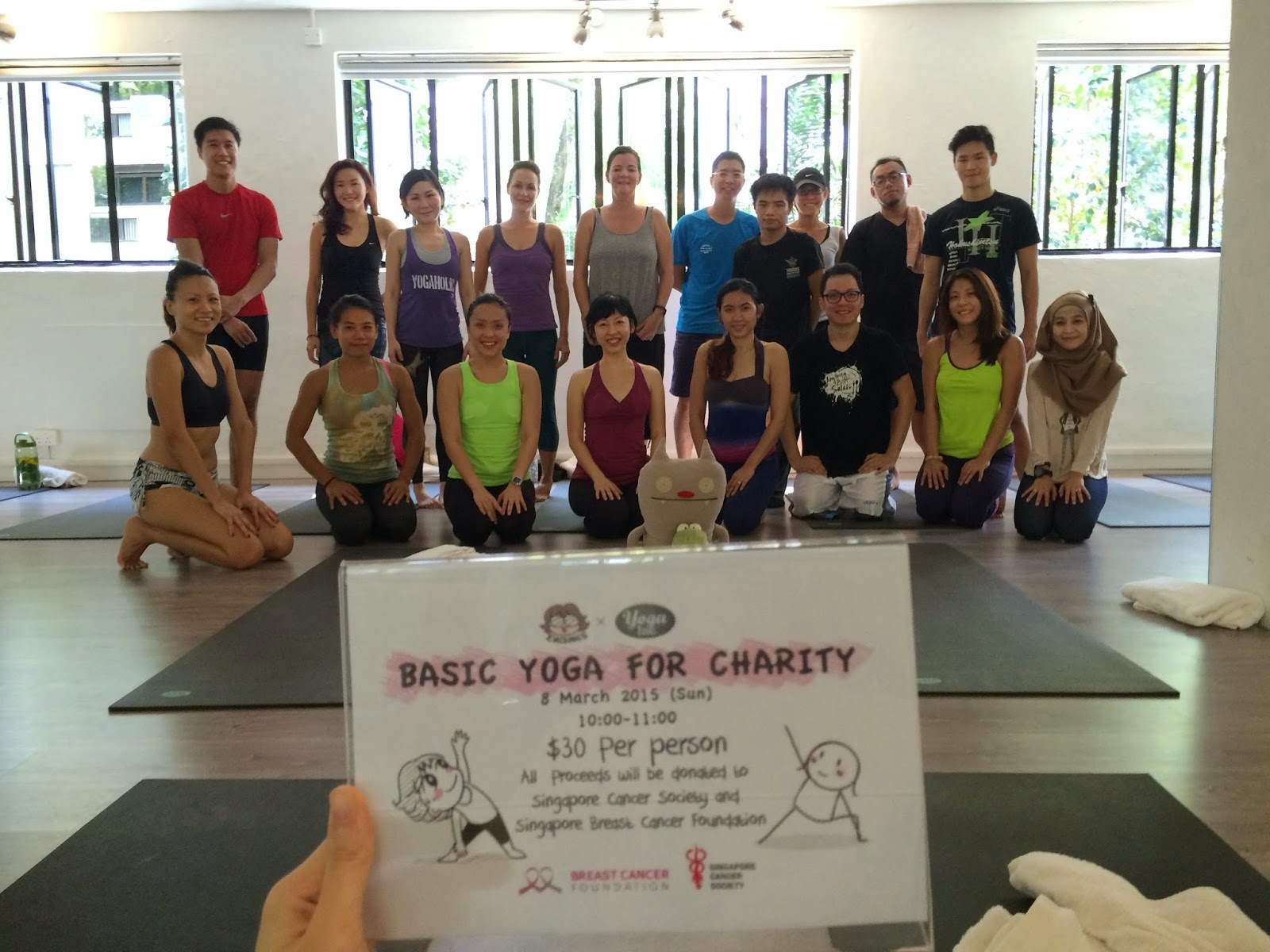 Evacomics Charity Yoga event at Yoga Inc.