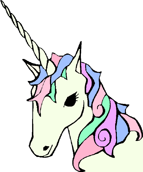Unicorn Face Coloring Page
