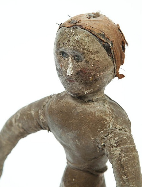 Anonymous works th century folk art doll made from a