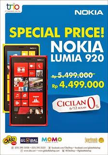 Nokia Lumia 920 Cashback Rp 1 Juta