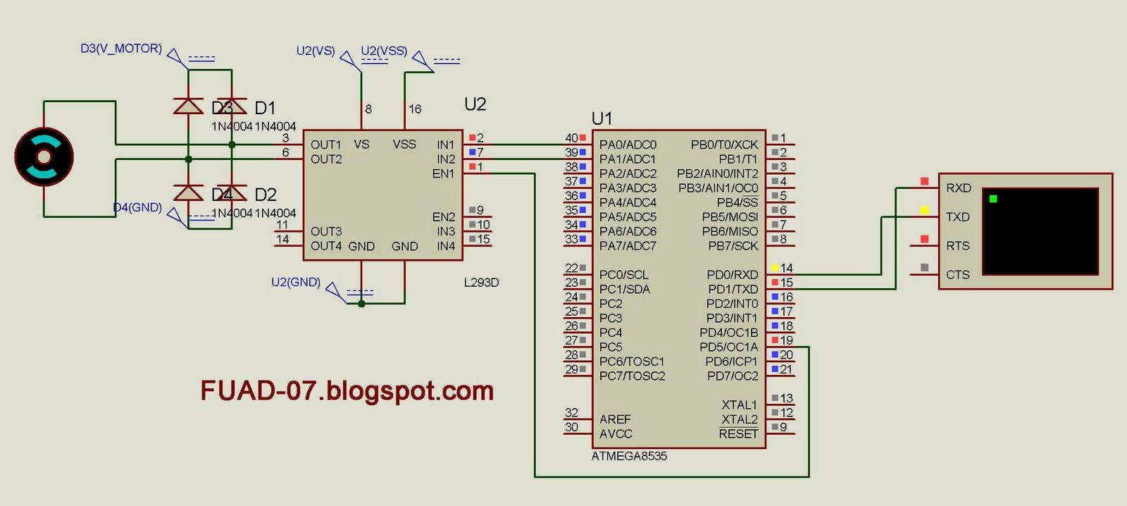 Pemrograman Atmega8535 Dengan Codevision Avr Part 8 Lets Make A Programmable Line Follower Robot Based Microcontroller Pada Latihan Usartini Saya Membuat Simulasi Tentang Komunikasi Mikrokontroler Usart Dan Di Outputkan Ke Motor Dcjadi Inti Dari