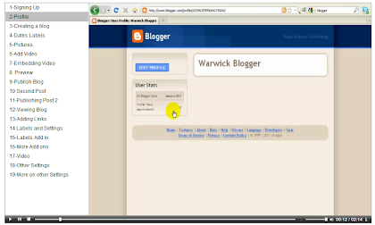 A tutorial on using Blogger