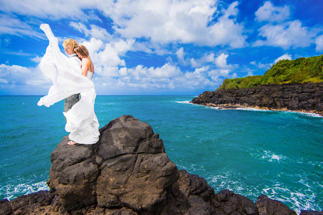 best destination weddings, top hawaiian destination weddings, kauai st regis princeville wedding, st regis kauai wedding