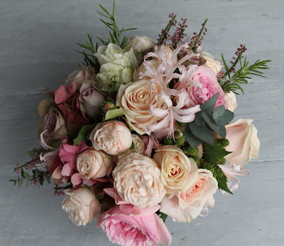 Vintage Romance Wedding Bouquet English Garden Roses and Herbs