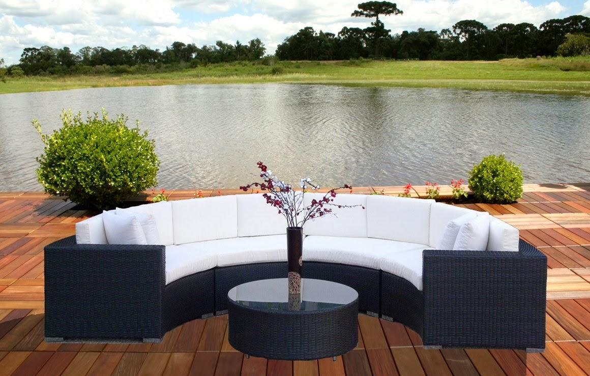 Buy curved sofa online curved outdoor sofa for Outdoor sofa set sale