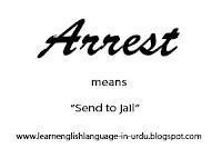 vocabulary lesson no 1- arrest