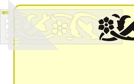 Трафарет для бордюра своими руками 44