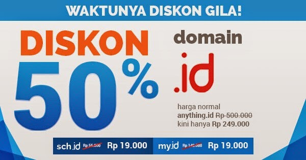 Promo Domain .ID! .my.id dan .sch.id