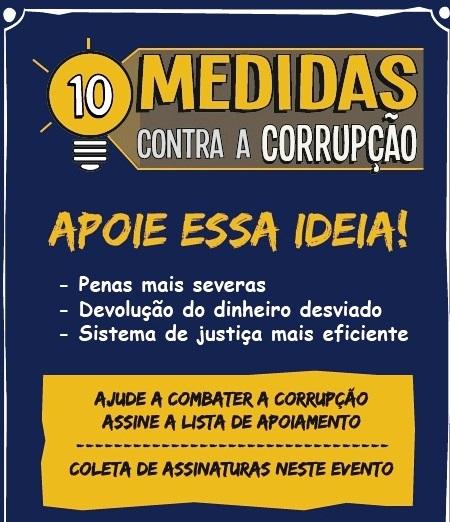 Ajude a combater a corrupção