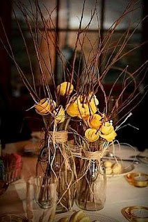 Wedding Decoration, Yellow Centerpieces and Floral Arrangements
