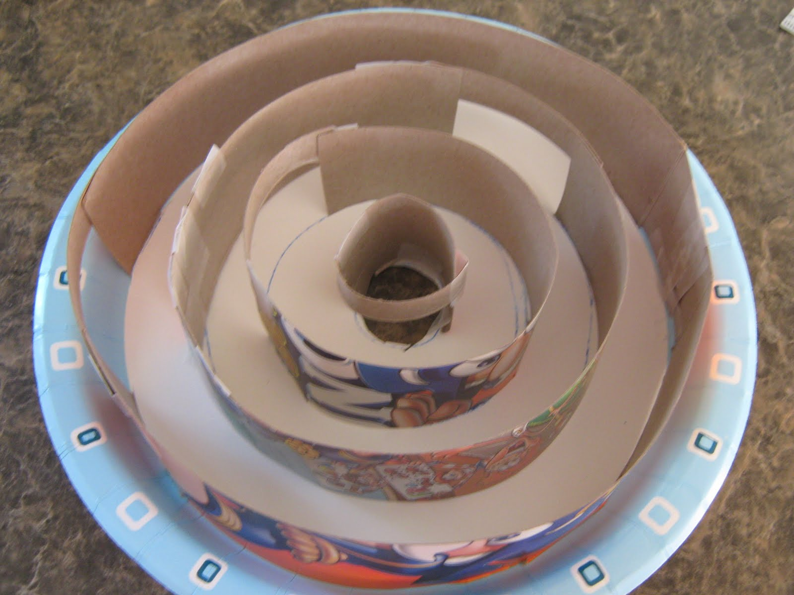 Almost Unschoolers Paper Plate Marble Maze