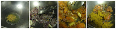 Saute onion and tomato for kofta curry