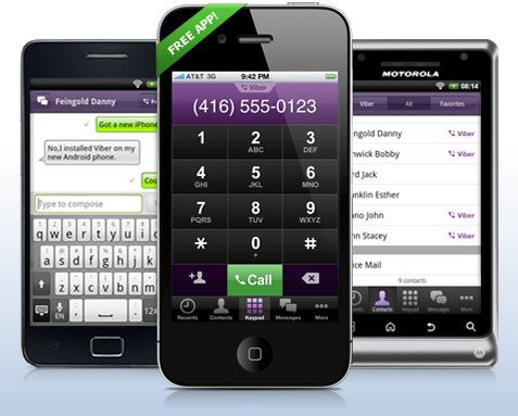 Viber is an application for iPhone ® and Android ™ phones that lets