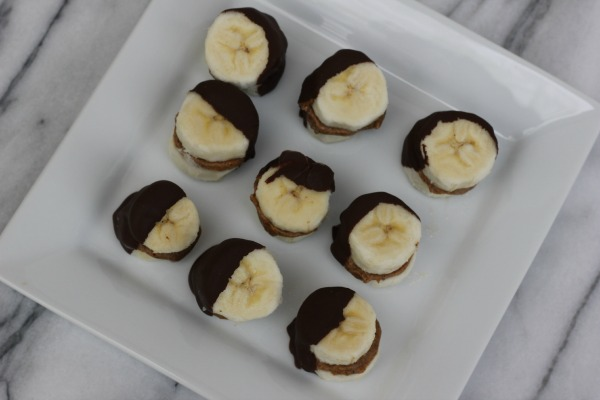 Frozen Dark Chocolate Almond Banana Bites