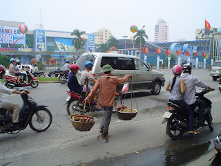 Men version of Vietnamese Hat. Hanoi (Vietnam)