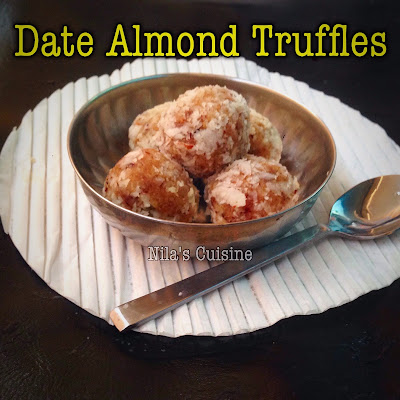 Dates Almond Truffles / Dates Almond Laddoo
