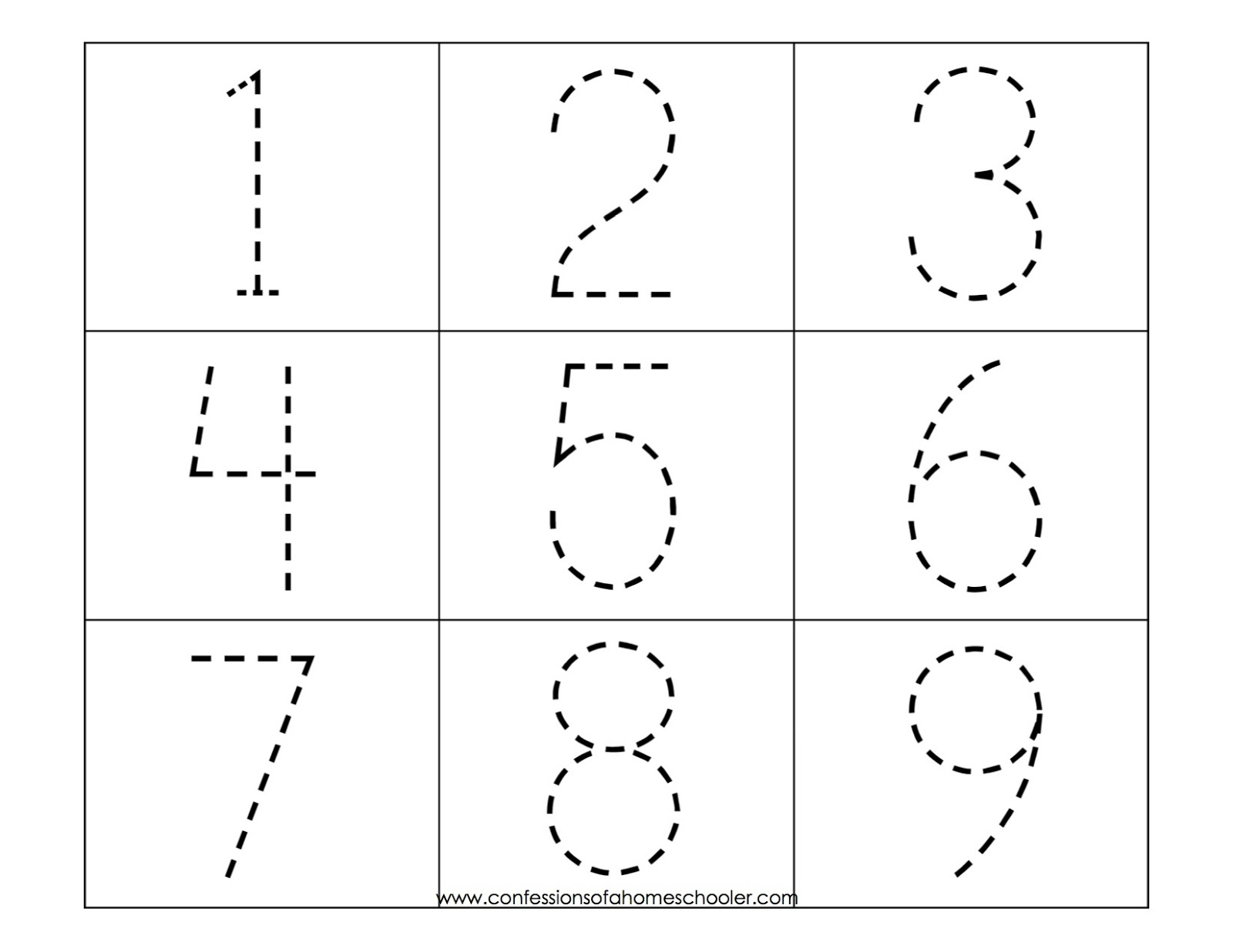 preschool numbers coloring pages - photo#31