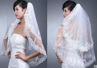 New 2T White/lvory Applique wedding Bridal Bride Veil comb+