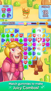 Screenshots of the Gummy gush for Android tablet, phone.