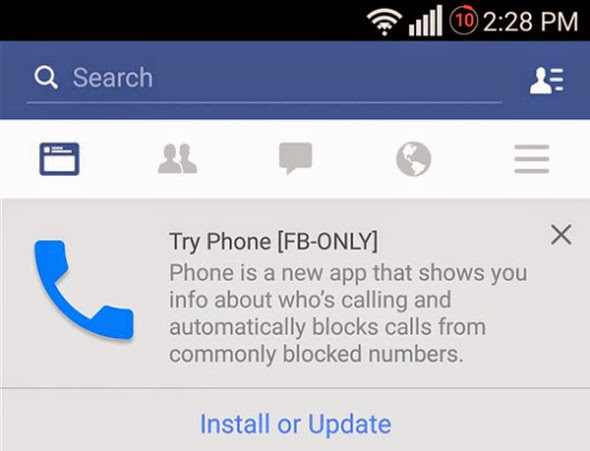 Η Facebook δοκιμάζει τον δικό της dialer για συσκευές Android (;)