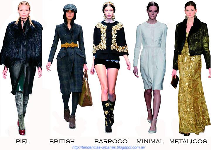 Los estilos de moda claves del otoño invierno 2013